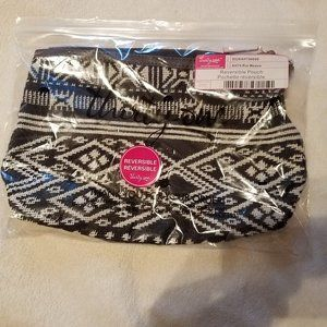 New Thirty One Rio Weave Cotton Reversible Pouch